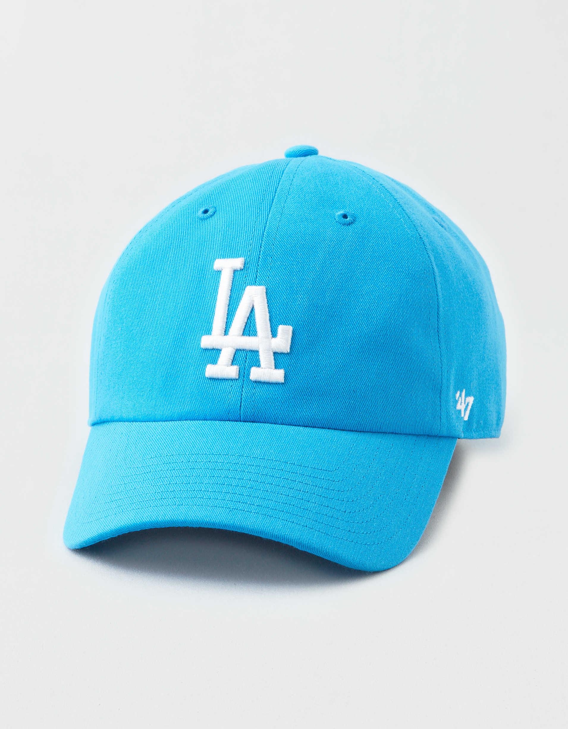 Los Angeles LA Dodgers 47 Brand Womens MLB Neon Clean Up Baseball Cap Hat Blue