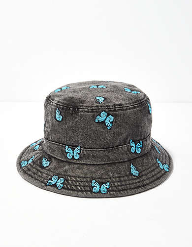 AE Denim Butterfly Bucket Hat