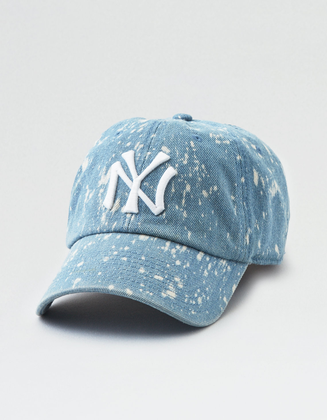 American Needle Bleach Splatter NYY Baseball Hat. Placeholder image.  Product Image acd46e348e6f
