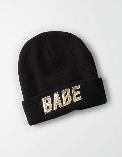 AEO Sequin Graphic Beanie -