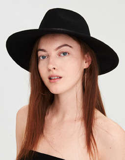 Aeo Studded Flat Brim Western Hat by American Eagle Outfitters