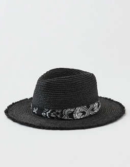AEO Frayed Edge Straw Hat