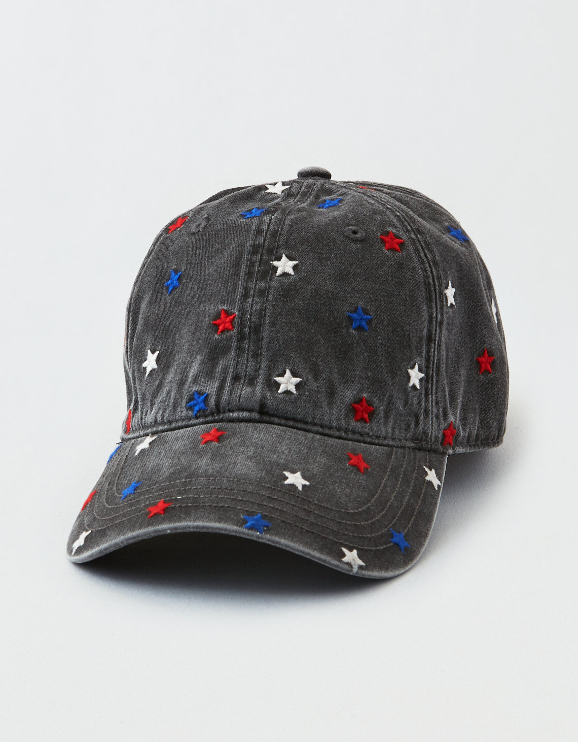 ee93402a339717 AEO Star Baseball Cap, True Black | American Eagle Outfitters
