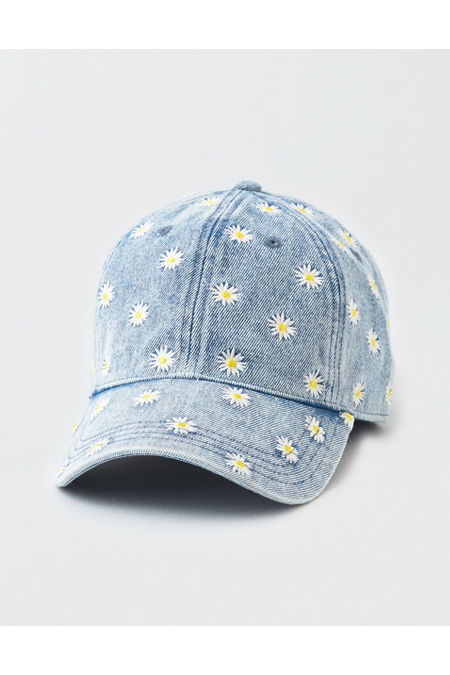 Women's Vintage Hats | Old Fashioned Hats | Retro Hats AE Denim Daisy Baseball Hat Womens Blue One Size $13.46 AT vintagedancer.com
