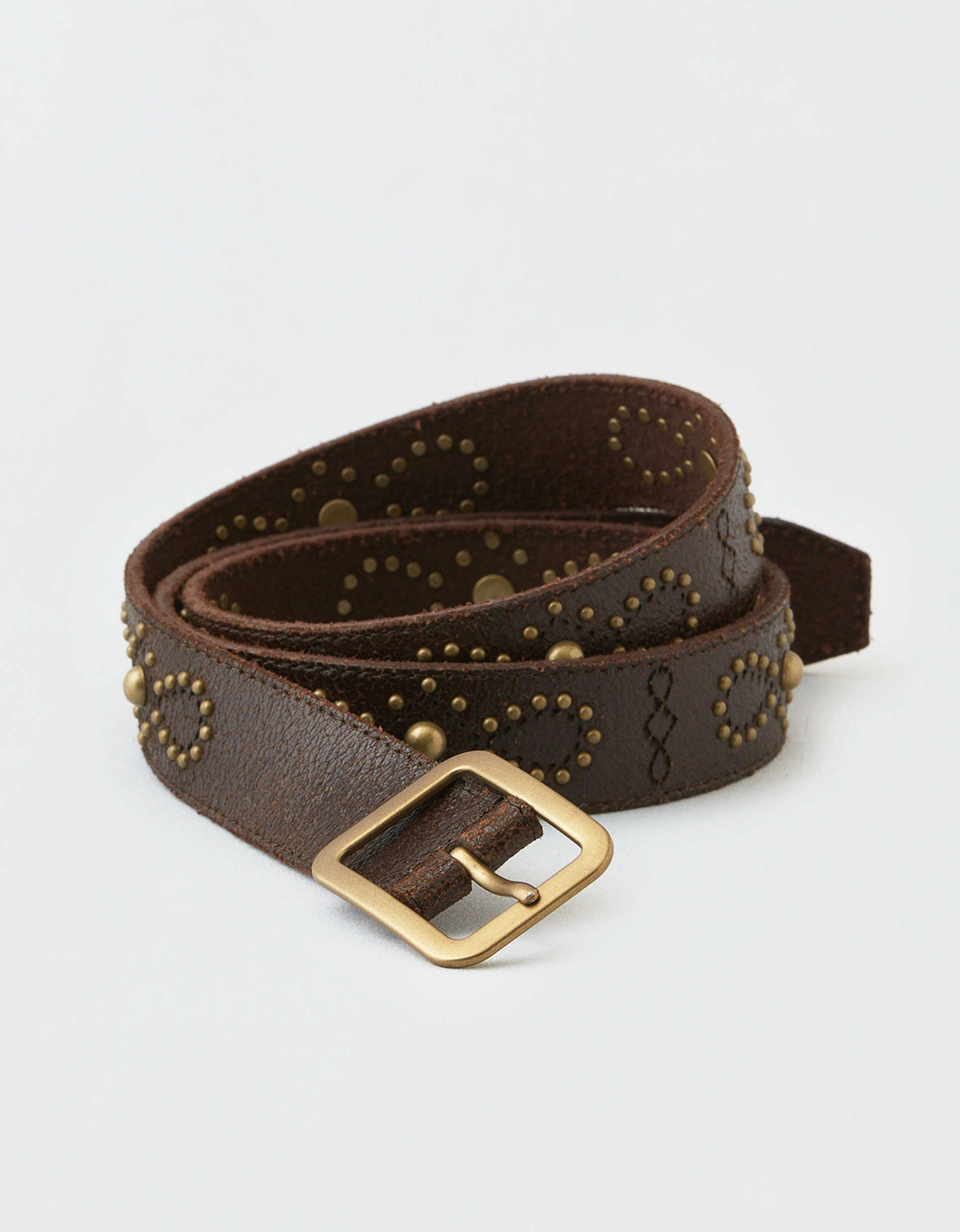 Frye & Co. Crackle Stud Belt