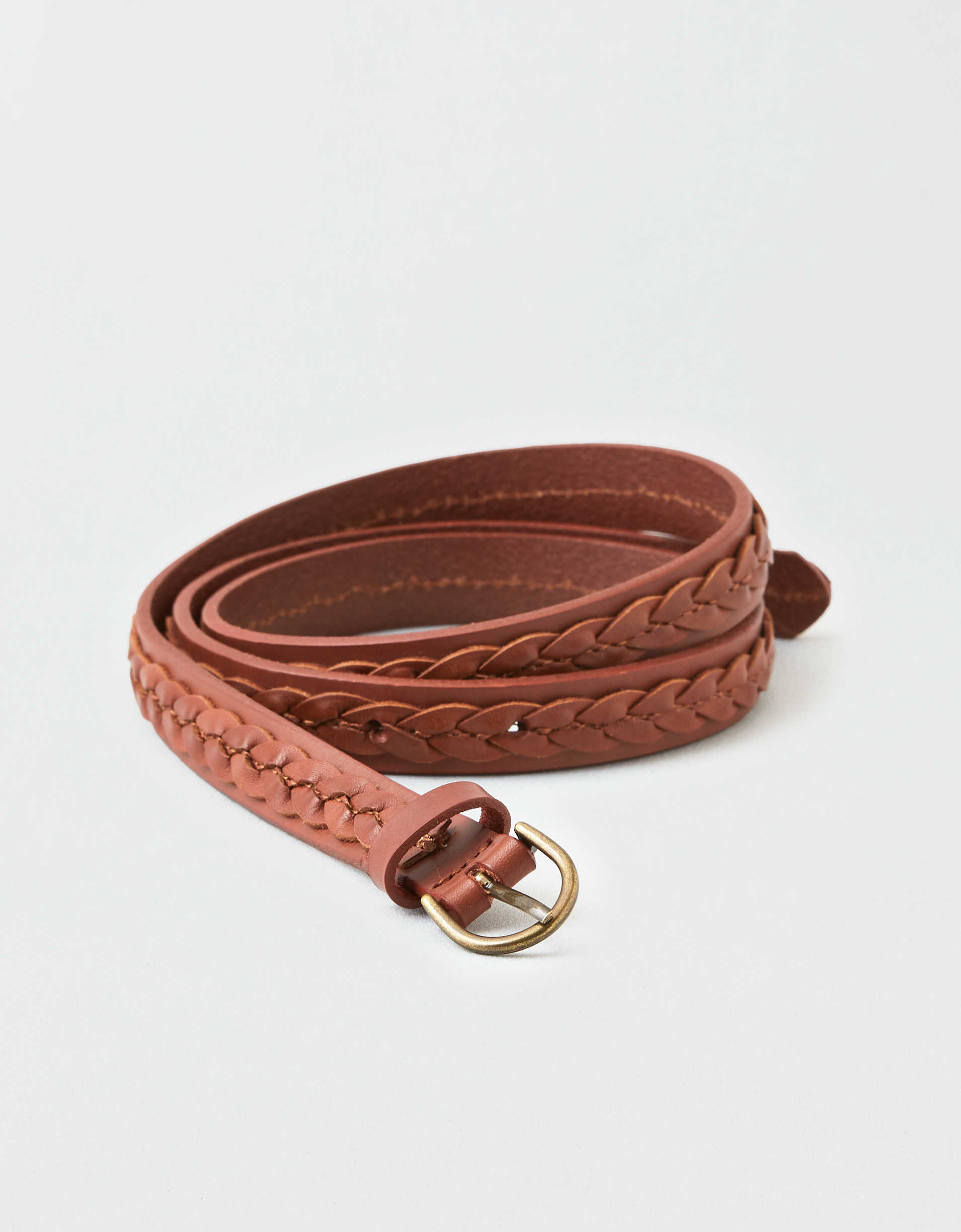 AEO Thin Braided Leather Belt