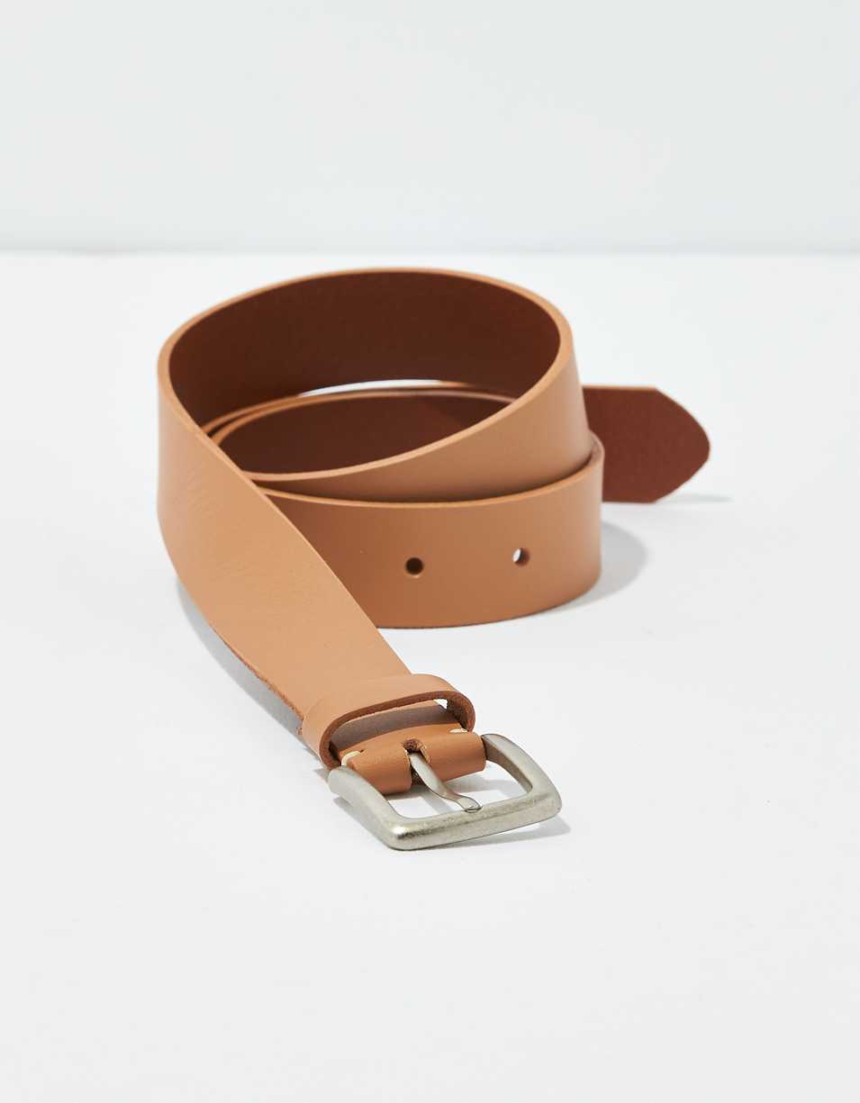AEO Square Buckle Leather Belt