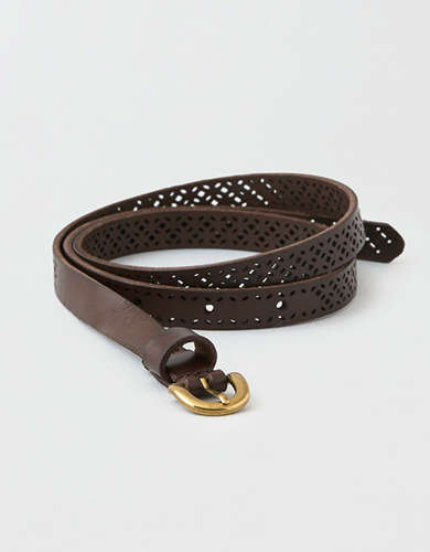 AEO Leather Thin Belt