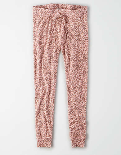 AE Super High-Waisted Soft Plush Leopard Legging