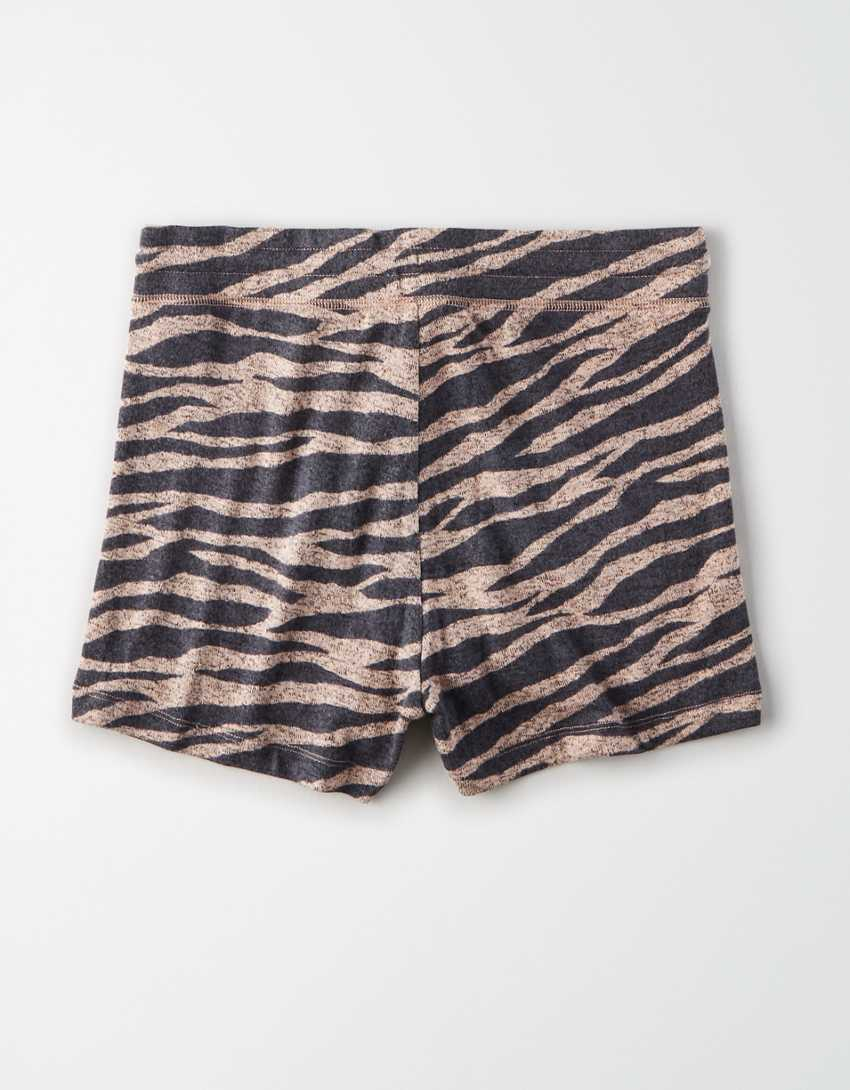 AE Plush High-Waisted Tiger Short Short