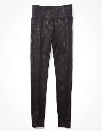 AE Shine Printed Highest-Waisted Legging