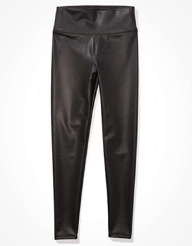 AE Faux Leather Highest-Waisted Legging
