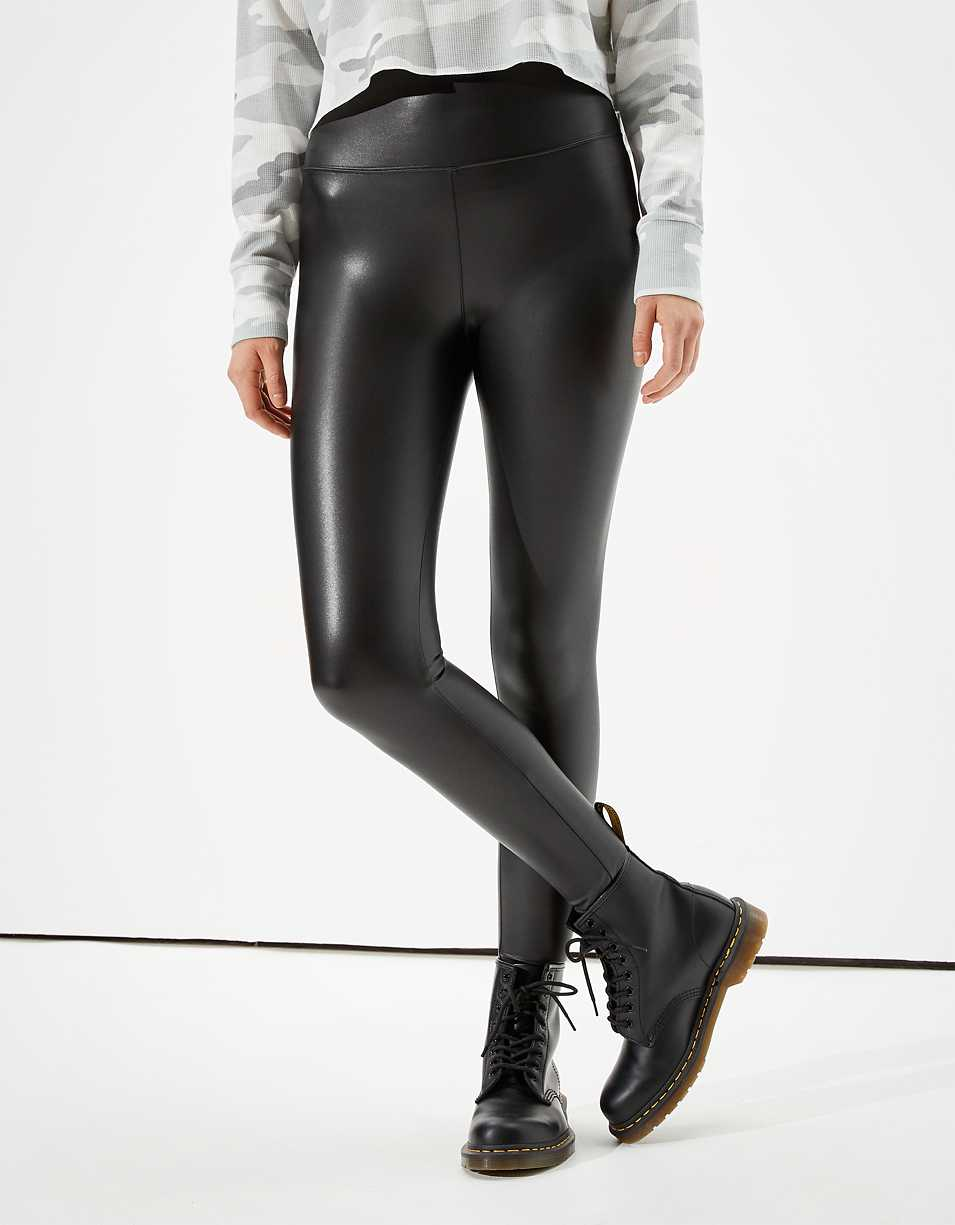 AE Faux Leather Highest Waist Legging