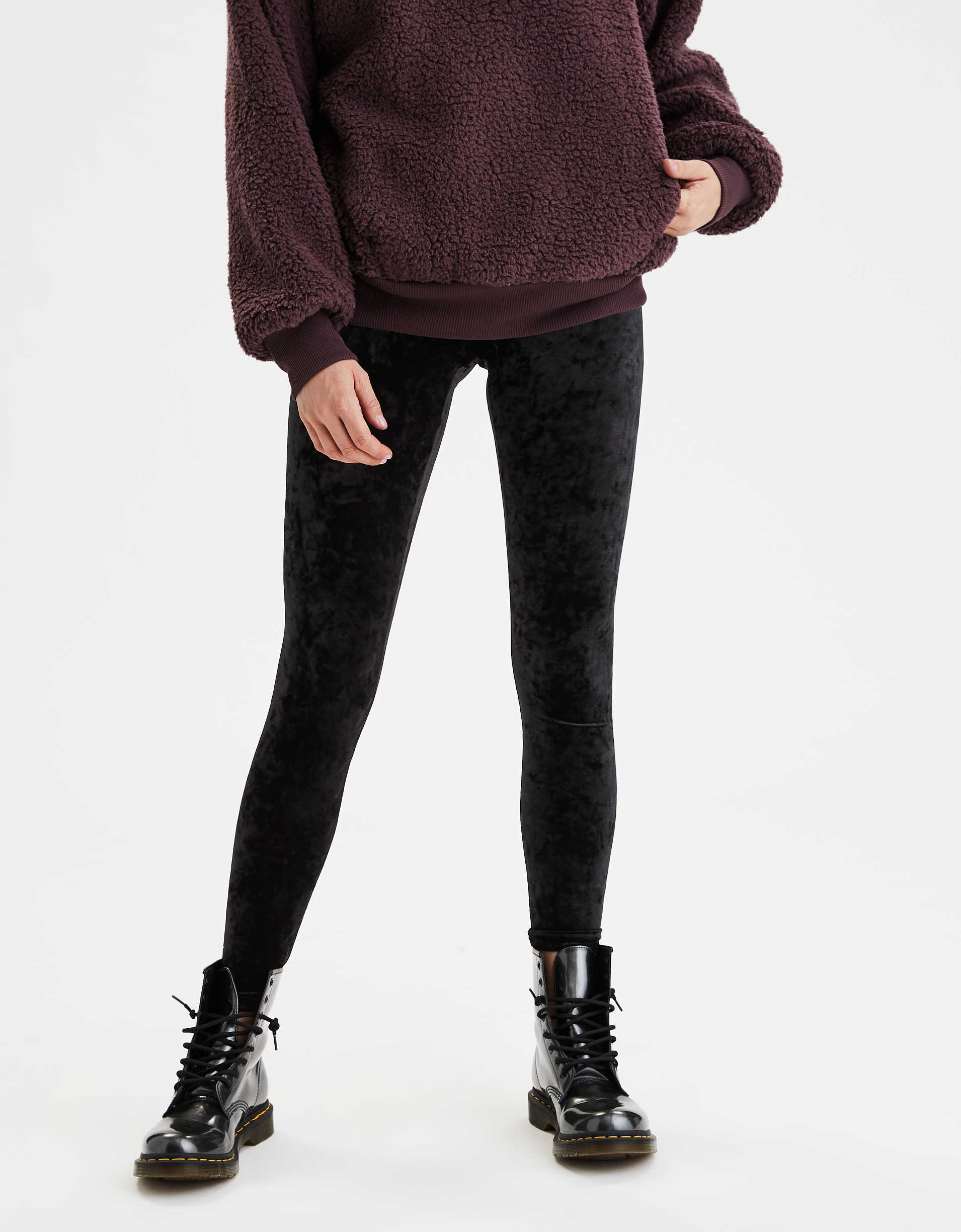 Memoi Crushed Velvet Legging