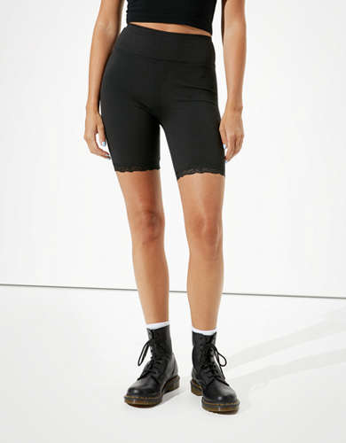 AE Highest-Rise Lace Wide Waistband Bike Short