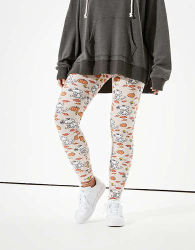 AE Plush Pumpkin Snoopy Super High-Waisted Legging