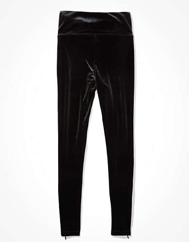 AE Velvet Zip Highest-Waisted Legging