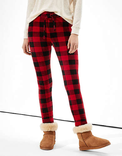 AE Plaid Velvet Super High-Waisted Legging