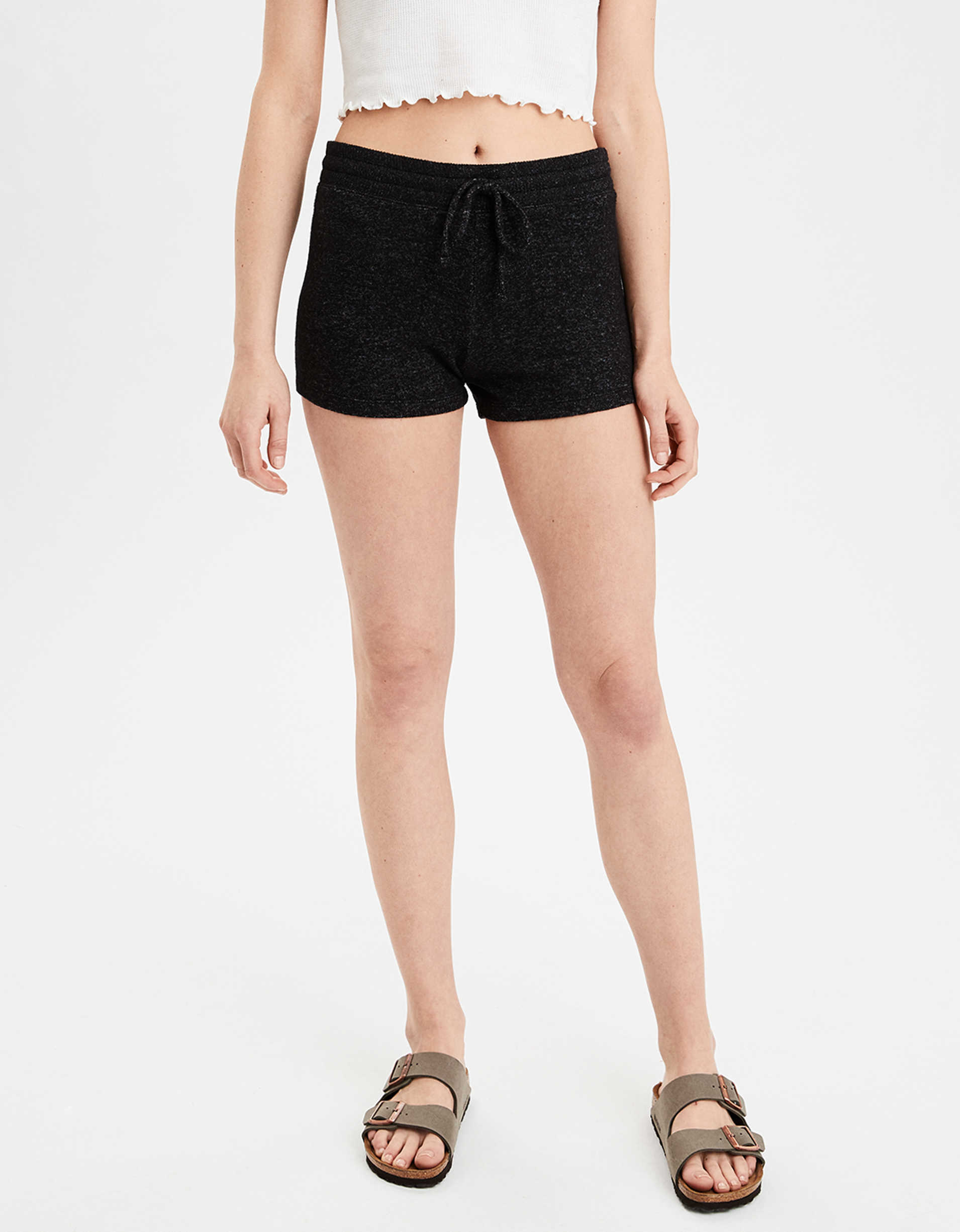 AE High-Waisted Solid Plush Shortie