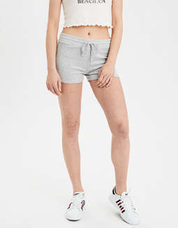 AE High-Waisted Solid Plush Short Short