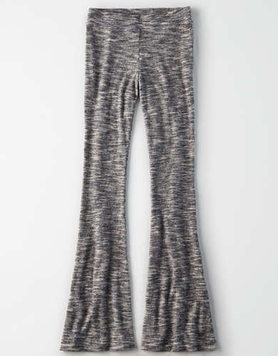 AE High-Waisted Plush Space Dye Flare Legging