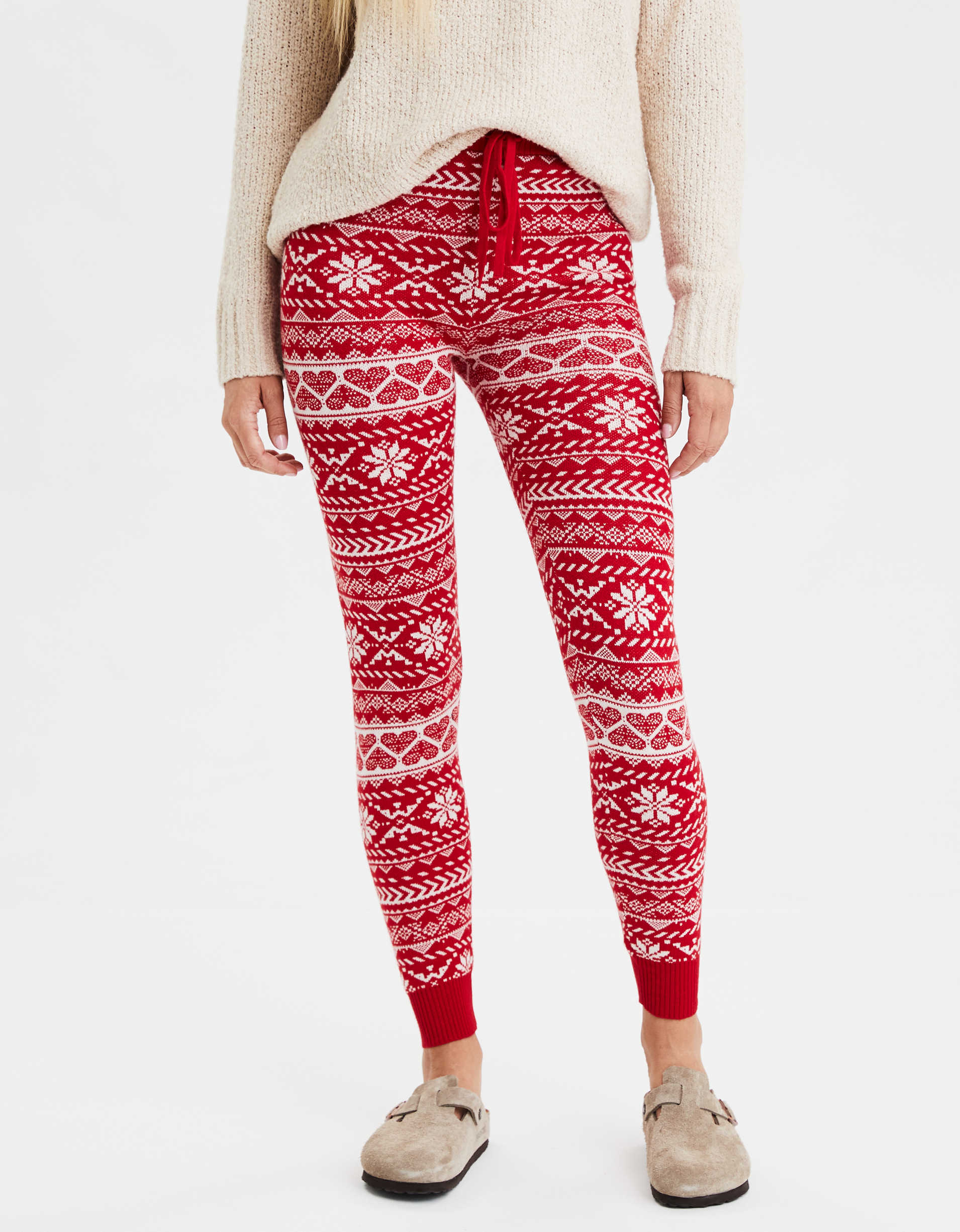 AEO Super High-Waisted Fairisle Sweater Legging