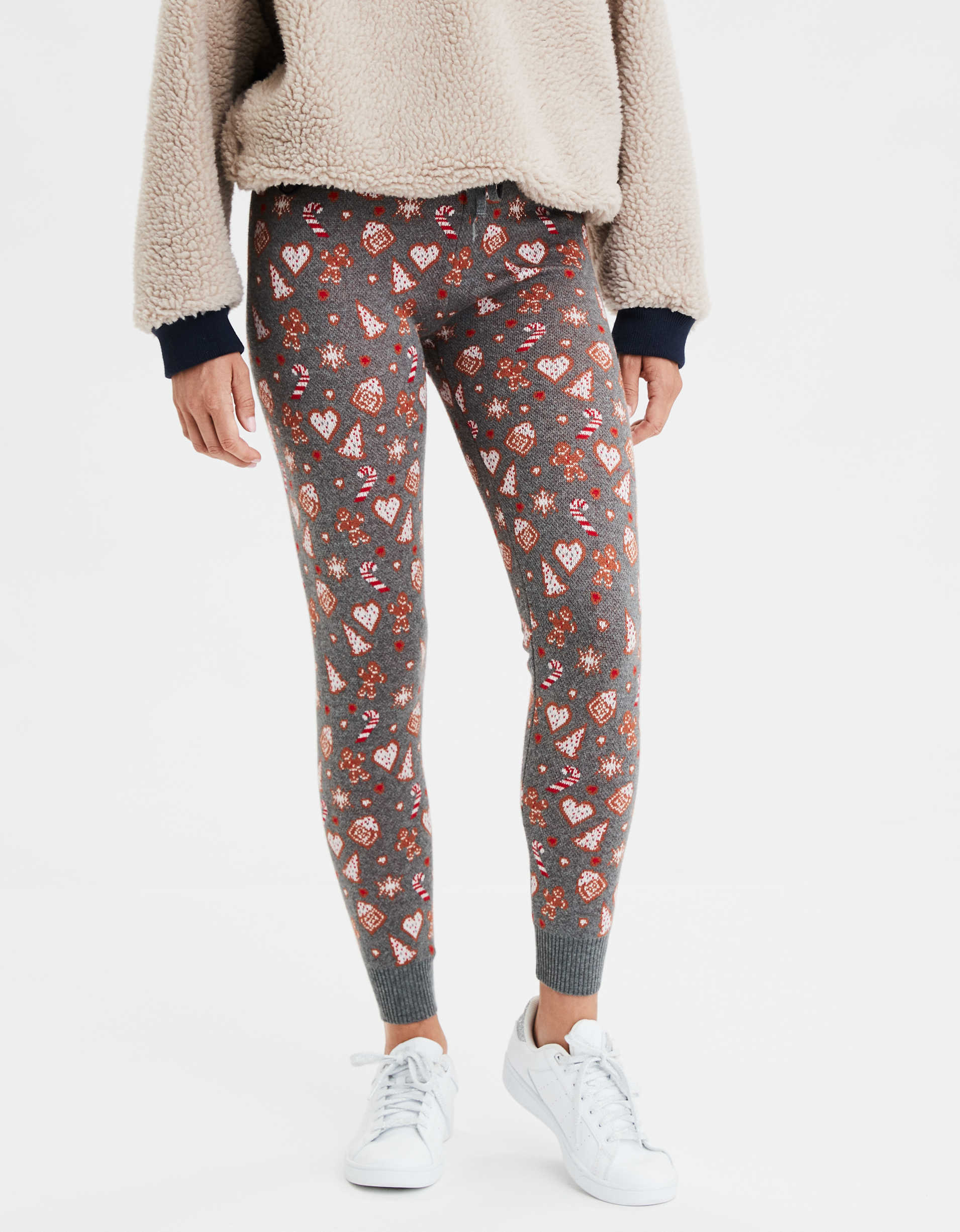 AEO Super High-Waisted Gingerbread Cookie Sweater Legging
