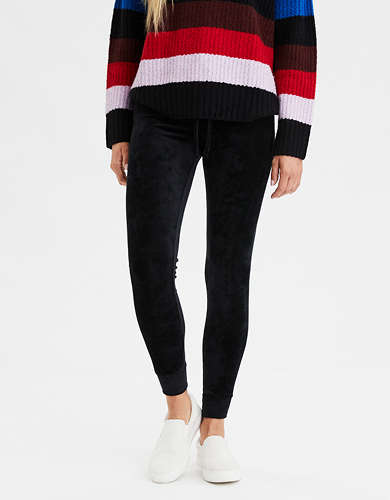 AEO Super High-Waisted Plush Velvet Legging