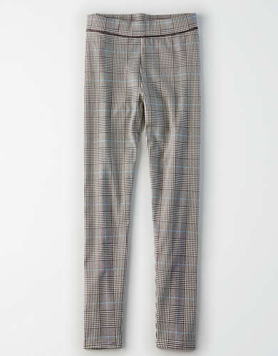 AE Super High-Waisted Plaid Leggings