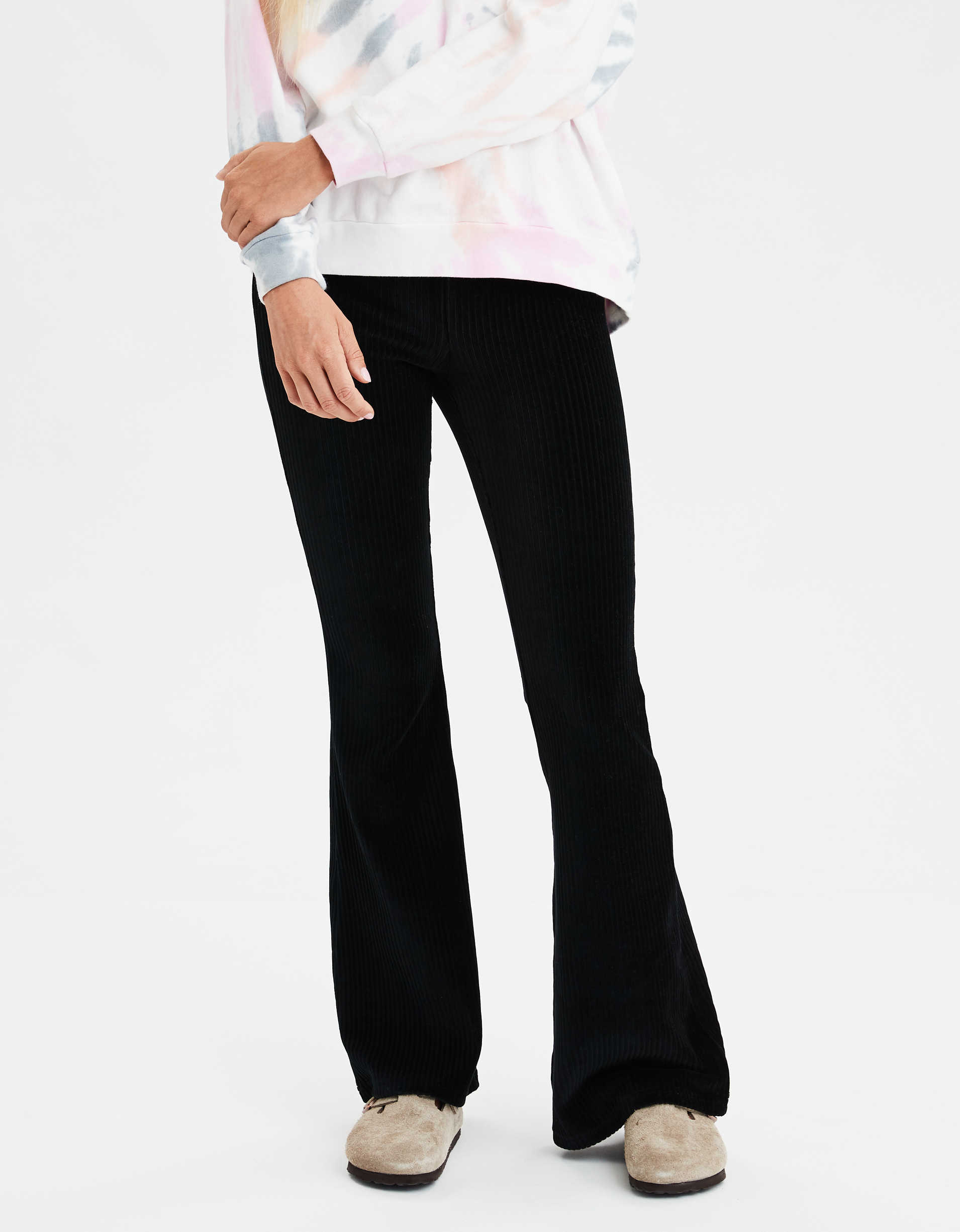 AEO Super High-Waisted Corduroy Flare Legging