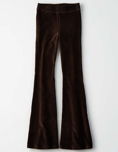 AEO High-Waisted Corduroy Flare Legging