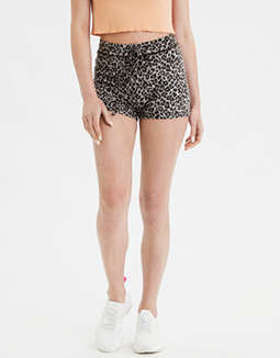 AE High-Waisted Plush Leopard Shortie