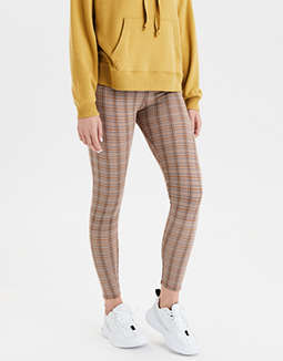 AE Super High-Waisted Houndstooth Leggings