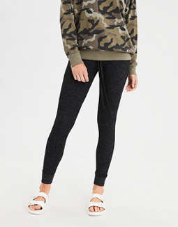 AEO High-Waisted Plush Fleece Sweater Legging