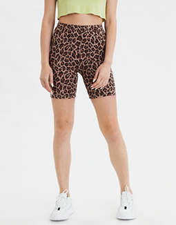 AE High-Waisted Leopard Bike Short