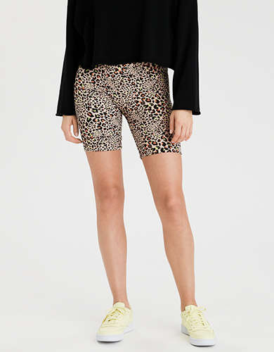 AE Highest-Rise Leopard Bike Short