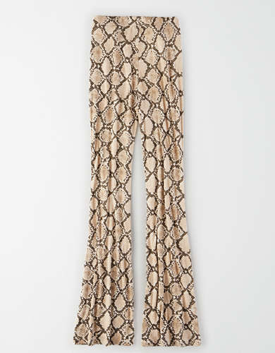 AE Super High-Waisted Snakeskin Flare Legging
