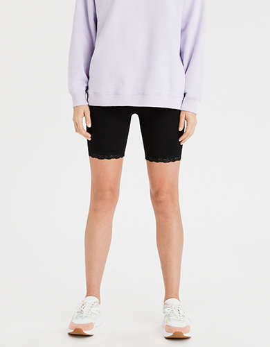 AE Highest-Waist Lace Trim Bike Short