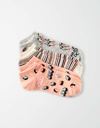 AEO Yoga Dog Ankle Socks 3-Pack