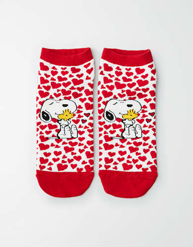 AEO Heart Snoopy Ankle Sock