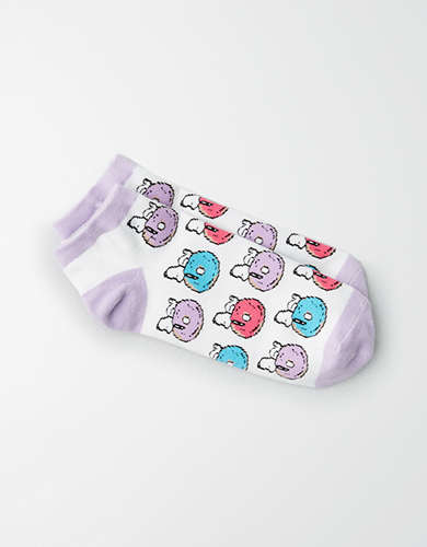 AEO Donut Snoopy Ankle Sock