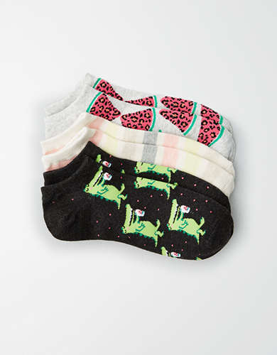 AEO Gator Ankle Socks 3-Pack