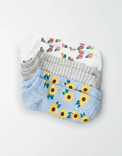 AEO Butterfly Ankle Socks 3-Pack