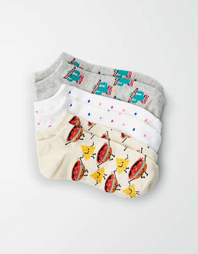 AEO Cactus Ankle Socks 3-Pack