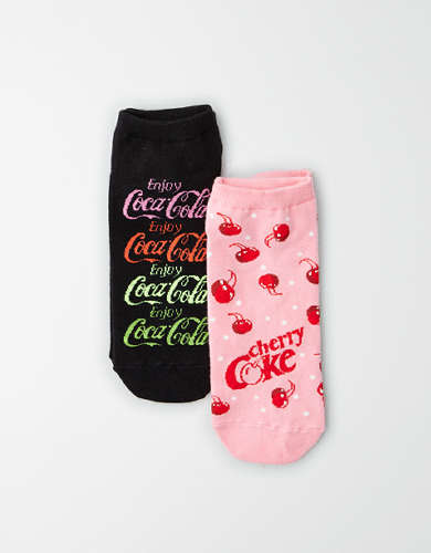 AEO Coca Cola Ankle Socks 2-Pack