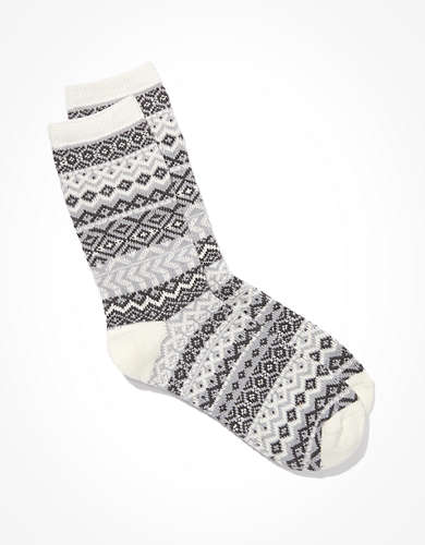 AE Fairisle Crew Sock