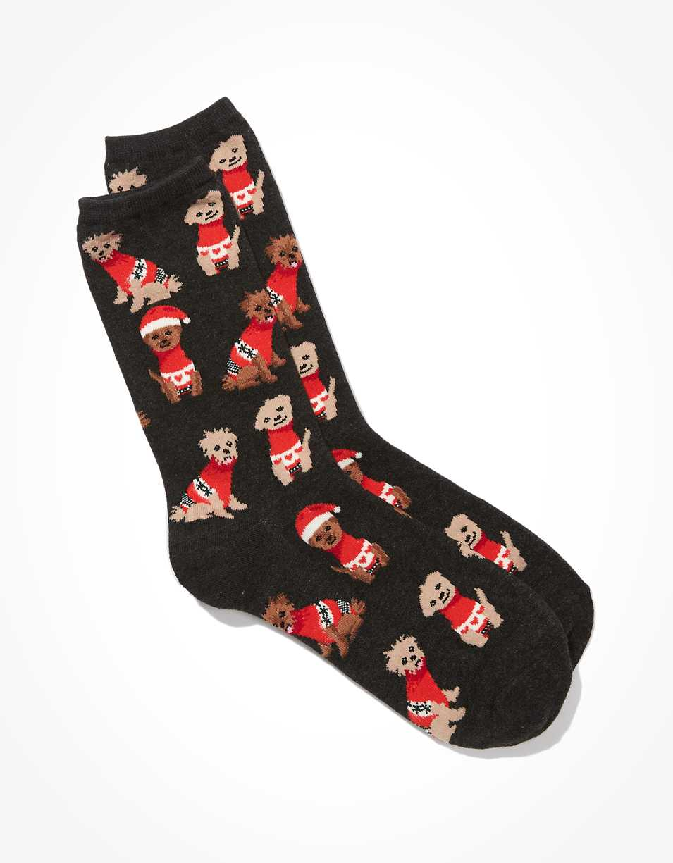 AE Puppy Sweater Crew Sock