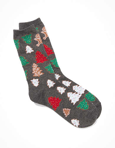 AE Christmas Cookies Crew Sock