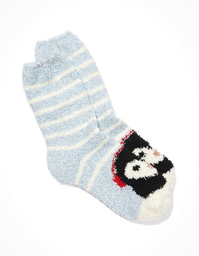 AE Penguin Striped Crew Sock