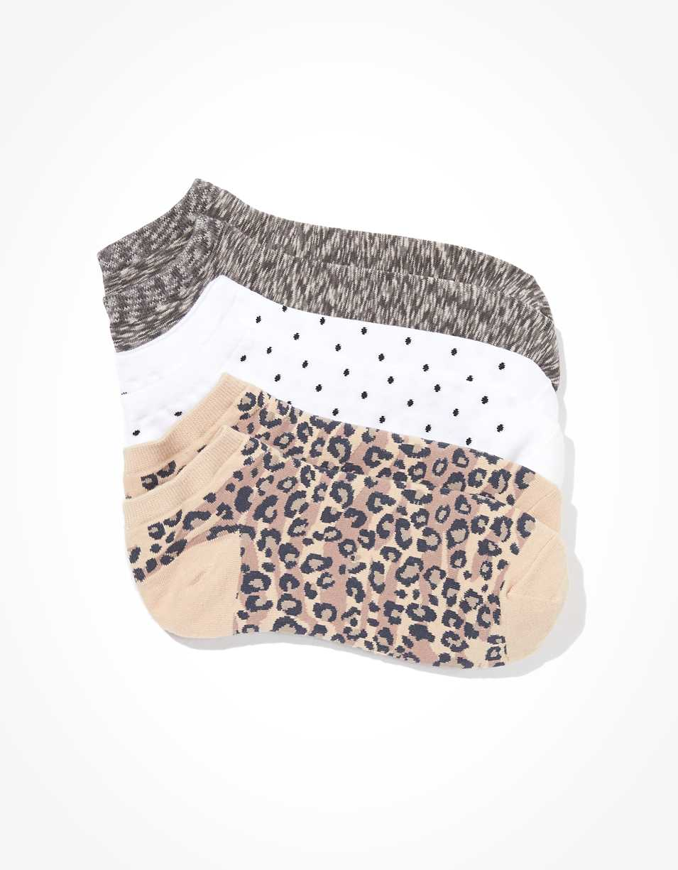 AE Leopard Ankle Socks 3-Pack